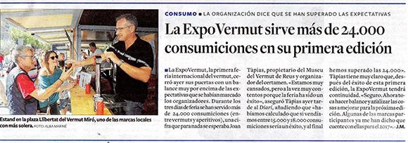 La ExpoVermut sirve más de 24.000 consumiciones en su primera edición